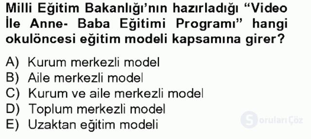 Türk Eğitim Tarihi Tek Ders Sınavı 3. Soru