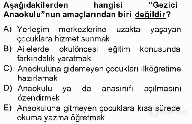 Türk Eğitim Tarihi Tek Ders Sınavı 4. Soru