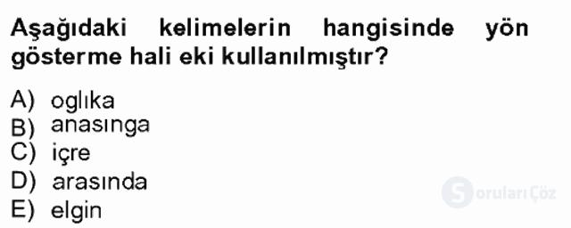 XIV-XV. Yüzyıllar Türk Dili Tek Ders Sınavı 4. Soru