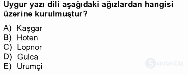 Çağdaş Türk Yazı Dilleri II Tek Ders Sınavı 1. Soru