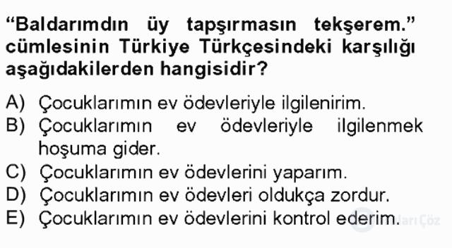 Çağdaş Türk Yazı Dilleri II Tek Ders Sınavı 19. Soru
