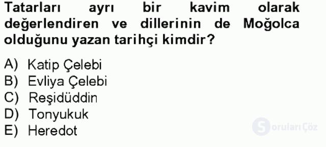Çağdaş Türk Yazı Dilleri II Tek Ders Sınavı 9. Soru
