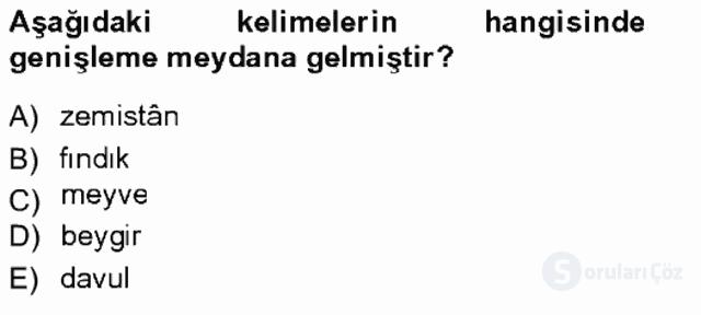 XVI-XIX. Yüzyıllar Türk Dili Tek Ders Sınavı 7. Soru