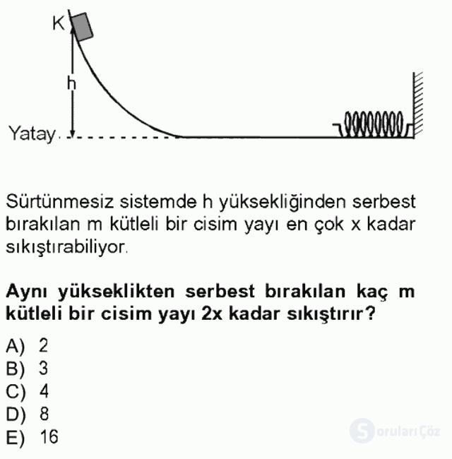 Teknolojinin Bilimsel İlkeleri I Tek Ders Sınavı 12. Soru