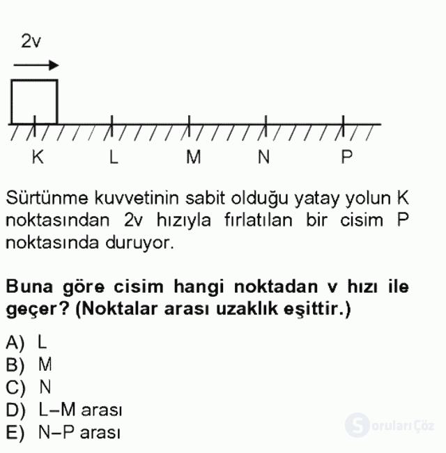 Teknolojinin Bilimsel İlkeleri I Tek Ders Sınavı 13. Soru