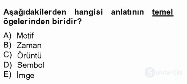 Türk Tiyatrosu Tek Ders Sınavı 2. Soru
