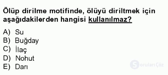 Türk Tiyatrosu Tek Ders Sınavı 3. Soru