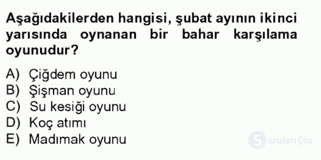 Türk Tiyatrosu Tek Ders Sınavı 4. Soru