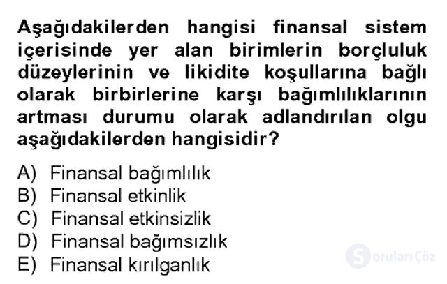 Para Politikası Bahar Dönemi Final 19. Soru