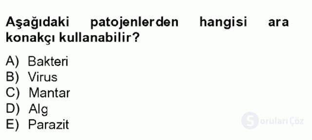 Su Ürünleri Tek Ders Sınavı 3. Soru