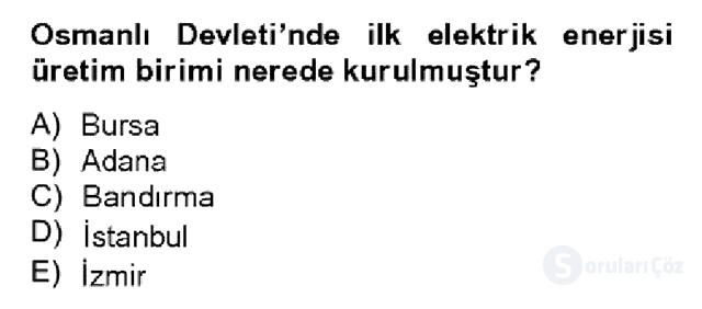 Türkiye Ekonomisi Bahar Dönemi Final 10. Soru
