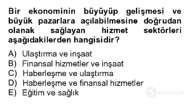 Türkiye Ekonomisi Bahar Dönemi Final 12. Soru