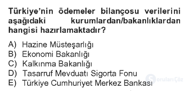 Türkiye Ekonomisi Bahar Dönemi Final 20. Soru