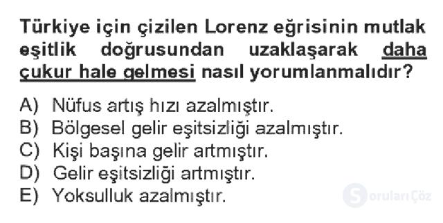 Türkiye Ekonomisi Bahar Dönemi Final 4. Soru
