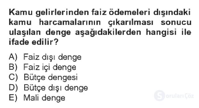 Türkiye Ekonomisi Bahar Dönemi Final 6. Soru