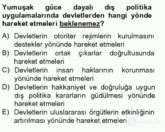 Dış Politika Analizi Tek Ders Sınavı 11. Soru
