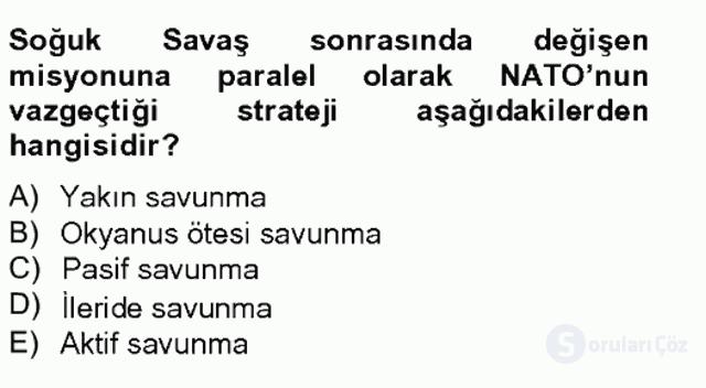 Türk Dış Politikası II Tek Ders Sınavı 7. Soru