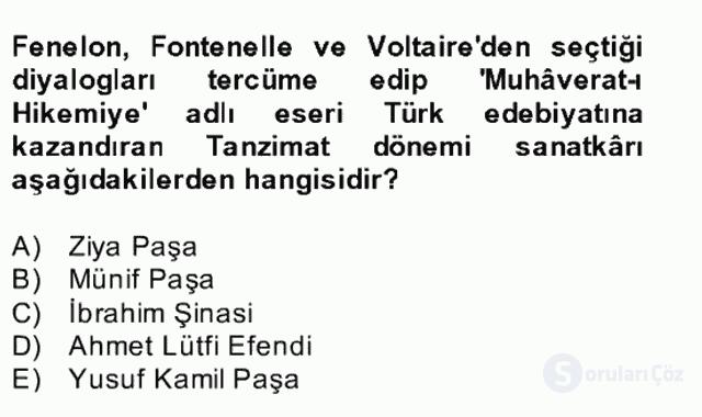 Batı Edebiyatında Akımlar II Bahar Dönemi Final 14. Soru