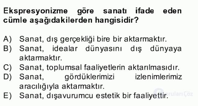 Batı Edebiyatında Akımlar II Bahar Dönemi Final 20. Soru