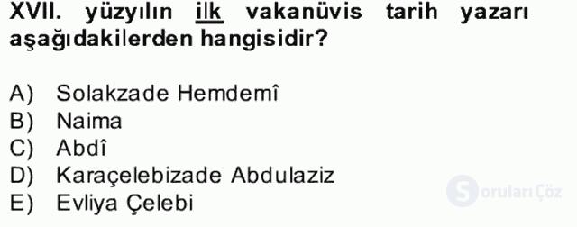 XVII. Yüzyıl Türk Edebiyatı Bahar Dönemi Final 26. Soru