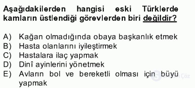 Halk Edebiyatına Giriş II Bahar Dönemi Final 14. Soru