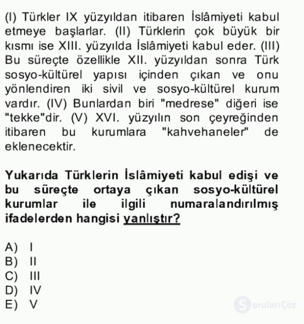 Halk Edebiyatına Giriş II Bahar Dönemi Final 19. Soru
