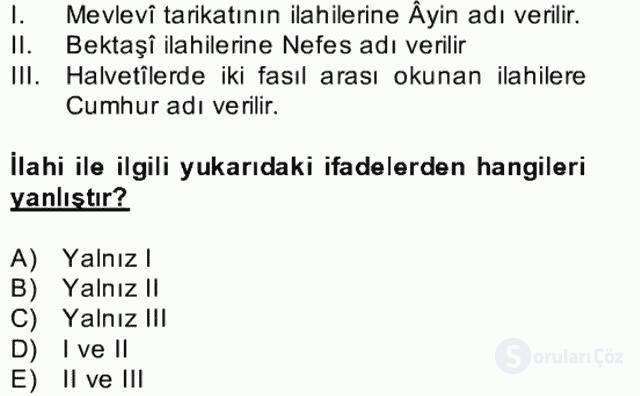 Halk Edebiyatına Giriş II Bahar Dönemi Final 20. Soru
