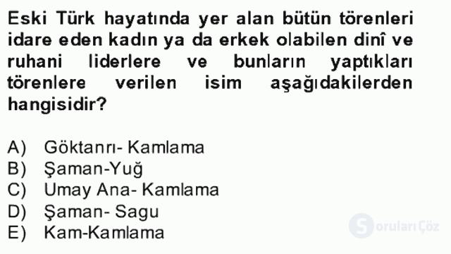 Halk Edebiyatına Giriş II Bahar Dönemi Final 5. Soru