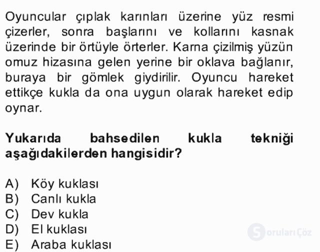 Halk Edebiyatına Giriş II Bahar Dönemi Final 7. Soru