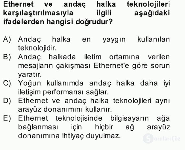 Temel Bilgi Teknolojileri II Bahar Dönemi Final 11. Soru