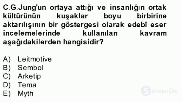Yeni Türk Edebiyatına Giriş II Bahar Dönemi Final 5. Soru