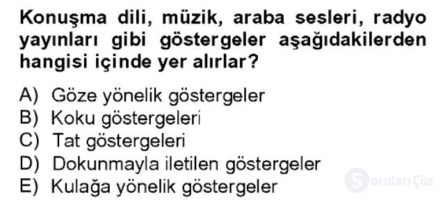 Sözlü ve Sözsüz İletişim Bahar Dönemi Final 14. Soru