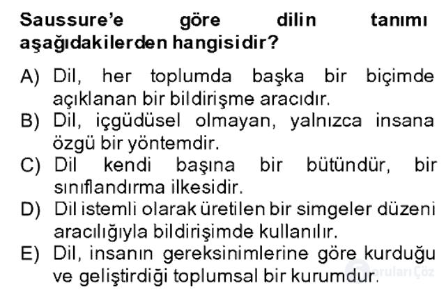 Sözlü ve Sözsüz İletişim Bahar Dönemi Final 3. Soru