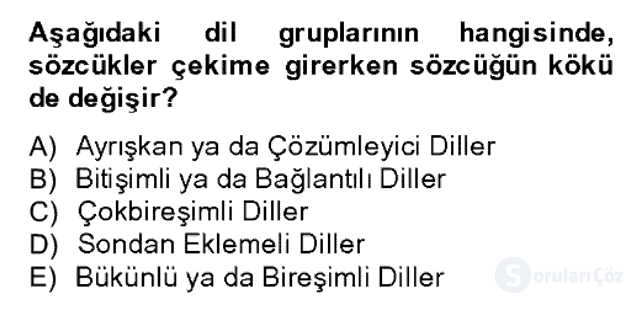 Sözlü ve Sözsüz İletişim Bahar Dönemi Final 4. Soru