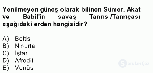 Türk Edebiyatının Mitolojik Kaynakları Bahar Final 13. Soru