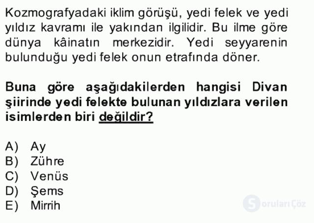 Türk Edebiyatının Mitolojik Kaynakları Bahar Final 20. Soru