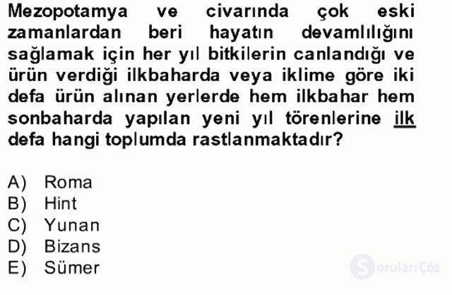 Türk Edebiyatının Mitolojik Kaynakları Bahar Final 21. Soru
