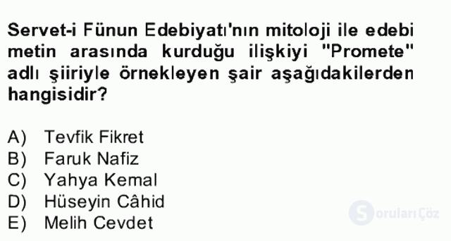 Türk Edebiyatının Mitolojik Kaynakları Bahar Final 22. Soru