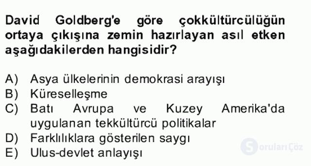 Siyaset Felsefesi II Bahar Final 20. Soru