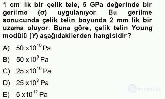 Fizik Bahar Final 19. Soru