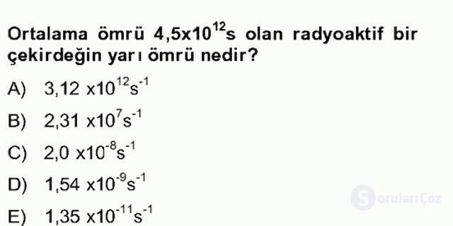 Fizik Bahar Final 25. Soru