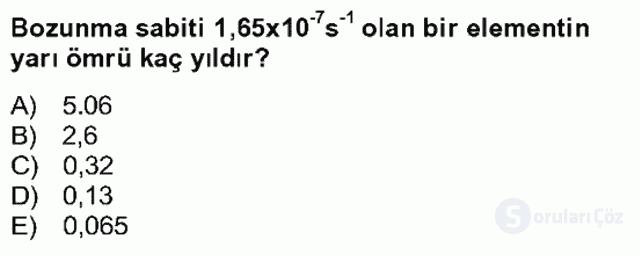Fizik Bahar Final 26. Soru