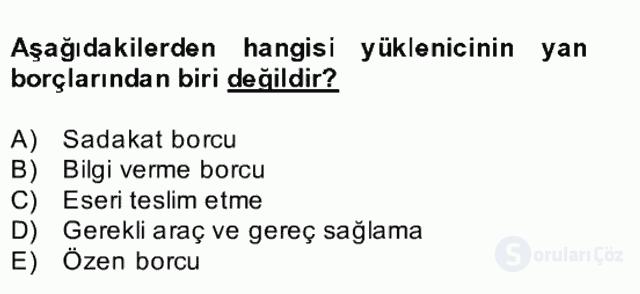 Medeni Hukuk II Bahar Final 26. Soru
