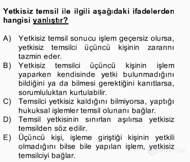 Medeni Hukuk II Bahar Final 5. Soru