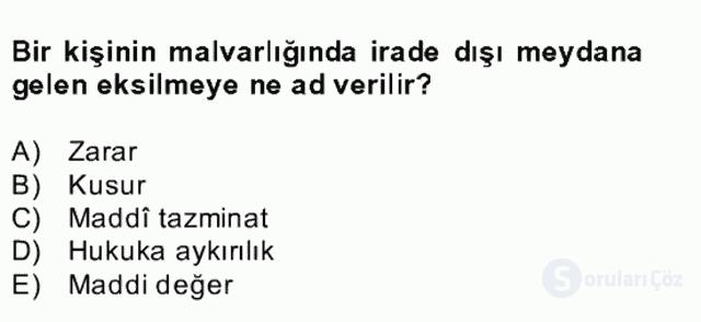 Medeni Hukuk II Bahar Final 6. Soru