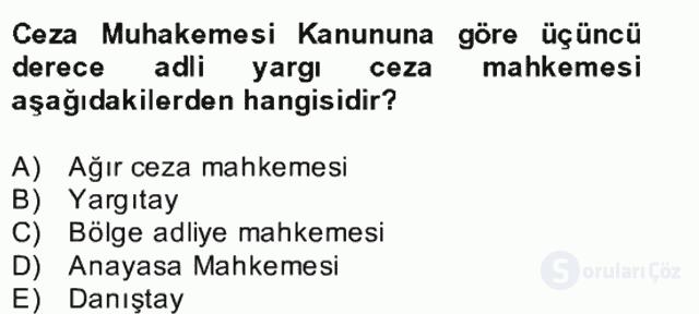 Ceza Muhakemesi Hukuku Bahar Final 3. Soru