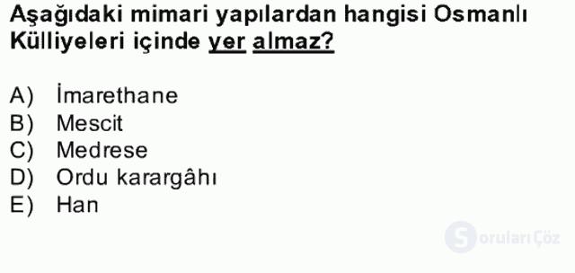 Kültür Tarihi Bahar Final 10. Soru
