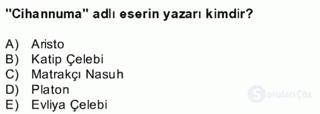Kültür Tarihi Bahar Final 11. Soru