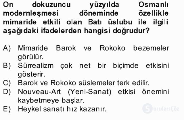 Kültür Tarihi Bahar Final 16. Soru