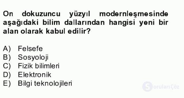 Kültür Tarihi Bahar Final 17. Soru